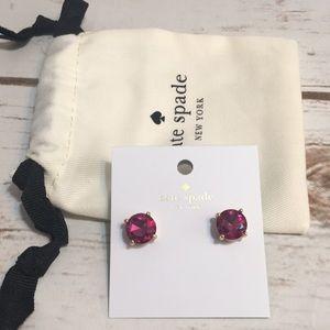 Kate Spade Fushia Earrings NWT